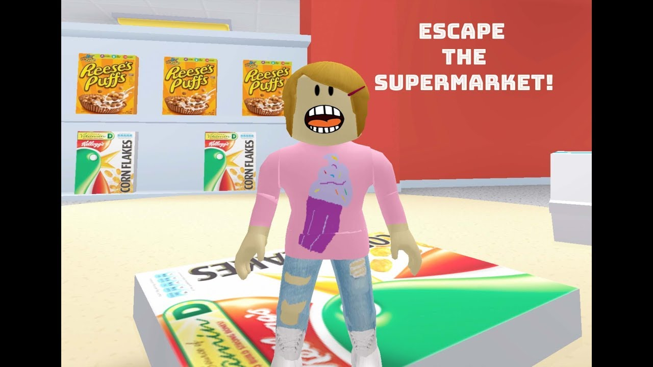 Roblox Escape The Supermarket With Molly The Toy Heroes Games